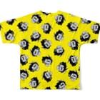 ビューの漫画グッズのスーパー不向きくん(たんぽぽ) Full graphic T-shirtsの背面