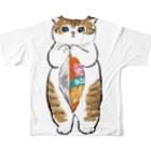 mofusandの下手くそかっ Full Graphic T-Shirtの背面
