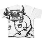 THEY ARE 「オソナえもん」のTHIS IS 描きたかっただけ Full graphic T-shirtsの背面
