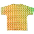 『ひざ通商。』HIZA-TRADING COMPANY IN SUZURIの六道輪廻h.t.(full) Full graphic T-shirtsの背面