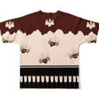 Rigelの胴服 染分練貫地桐矢襖文様辻が花柄 フルグラフィックTシャツ Full graphic T-shirtsの背面