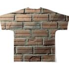 ベトナムデザインのVIETSTAR★のベトナムのレンガブロック Full graphic T-shirtsの背面