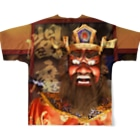 伊豆極楽苑の閻魔様フルグラフィックTシャツ Full Graphic T-Shirtの背面