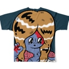 ジャイアント麗子ちゃんのゾンビJKフルグラフィックTシャツ
