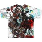 DRAGNET BRANDのFire Circle DRAGNET Full graphic T-shirtsの背面