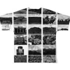写真家・宮坂泰徳の『CS』 by 『19x19+0.5』 Full graphic T-shirtsの背面
