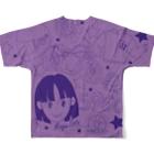 オートレースモバイル     佐藤摩弥オフィシャルグッズの佐藤摩弥デザインTシャツ.パープル Full graphic T-shirtsの背面