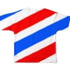和栗電脳商店の歯を大切にっ!Tシャツ(ナナメ) Full graphic T-shirtsの背面