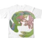 JUNSATO TreasureHouseの佐藤潤「鸞」 フルグラフィックTシャツ