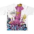 皇帝イカ(グラフィティ) フルグラフィックTシャツ