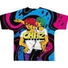 CHEBLOのCHAZ Full graphic T-shirtsの背面
