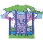 CHEBLOの檻越しのチェブアニマル  Full graphic T-shirtsの背面