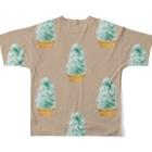 madeathのチョコミントソフト(茶) Full graphic T-shirtsの背面