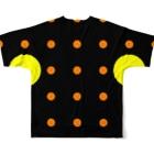 よシまるシンの全ドットマン Full graphic T-shirtsの背面