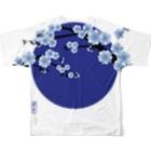 青月の青月【寒桜】 フルグラフィックTシャツ