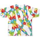 utanogoodsのpaper chain Full graphic T-shirtsの背面