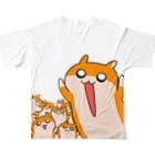 NORICOPOの大きなクソハムちゃんフルグラフィックTシャツ