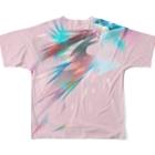 うとうとpetalの宝石の影 Full graphic T-shirtsの背面
