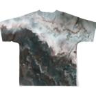 yjb_22のfluidart_jlamdl All-Over Print T-Shirtの背面