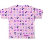 Nemon.Cのあぁちゃまゆめかわ8bit ピンク Full graphic T-shirtsの背面