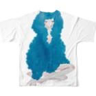 ついえよのジェラートガールフルグラフィックTシャツ