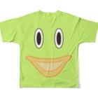 やまざきゆうみのロンどん君のTシャツ Full graphic T-shirtsの背面