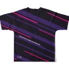 音無むおん⚡ショップSUZURI店の六音無双 フルグラフィックTシャツ黒 Full graphic T-shirtsの背面