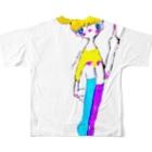 ついえよのファッキューガールフルグラフィックTシャツ
