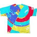 犬野温森のニューワールド Full graphic T-shirtsの背面
