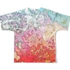 犬野温森のあつすぎ Full graphic T-shirtsの背面