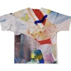 ATELIER SUIのHIDEコラージュ Full graphic T-shirtsの背面