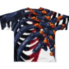 REDTAILの強化骨格:Enhanced skeleton Full Graphic T-Shirtの背面