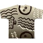 akari🌼虫デフォルメ作家のイボタガ【Always with Bugs・鱗翅パターン】 Full graphic T-shirtsの背面