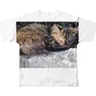 space a:kumoのまったりにゃんこさん フルグラフィックTシャツ