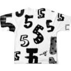 megumiillustrationの5フルグラフィックTシャツ