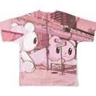 Salucoro SHOPのBig Fellows 富ヶ谷交差点 PINKフルグラフィックTシャツ