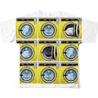 TOMOKUNIのコインランドリー Coin laundry【3×3】 Full graphic T-shirtsの背面