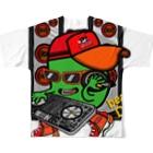 オリジナルデザインTシャツ SMOKIN'のBean DJ Full graphic T-shirtsの背面