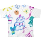 橋本京子のおおきなケーキのおまつりフルグラフィックTシャツ