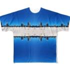 旅と、日記と、総柄。のゴールドコーストのビーチは最高 Full graphic T-shirts