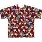 バニラde高収入ショップ[SUZURI店]のVANILLA ALL STARS Full graphic T-shirts