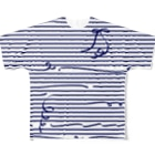 dizzyのNavy StripesフルグラフィックTシャツ