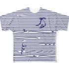 dizzyのNavy Stripes Full graphic T-shirts