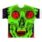 Keita Roimoのグリーンパーティー骸骨 フルグラフィックTシャツ