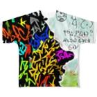 Keita Roimoのグラフィティ星人 フルグラフィックTシャツ