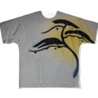 art-healing-awazuの松風 Full graphic T-shirts