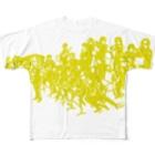 スキコソのビッグバンドシャツ(黄色) Full graphic T-shirts
