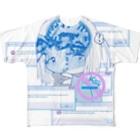 うさぎとしろくまのロボトミー Full graphic T-shirts