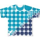 クレヨン君とえんぴつ君の暑いから水玉にしてみよう Full graphic T-shirts