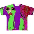 TOP🍌877の顔面偏差値 Full graphic T-shirts